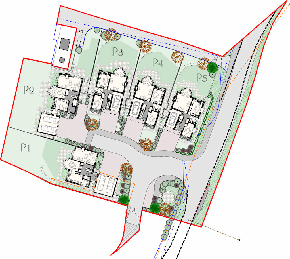 Site plan for Robin Close